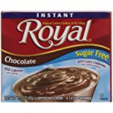 Royal Instant Pudding, Sugar Free, Chocolate, 1.7-Ounce (Pack of 12)
