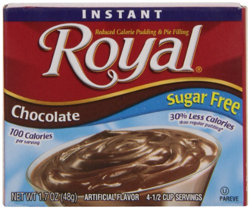 Fat Free Pudding (Royal Instant Pudding, Sugar Free, Chocolate, 1.7-Ounce (Pack of 12))