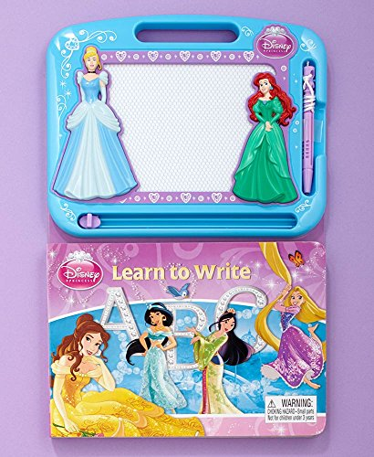 Matts Global Licensed Drawing Pad Activity Books Attached Pen Magnetic Drawing Board (Disney Princess)