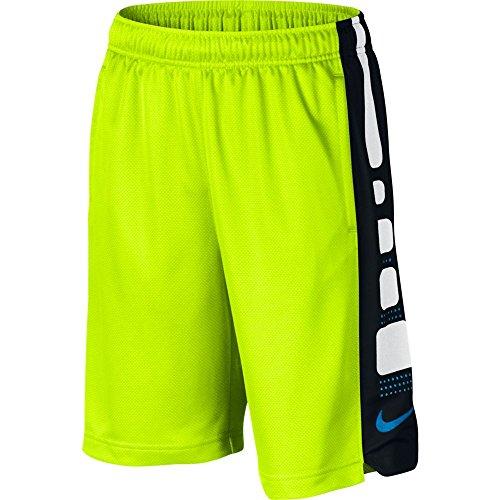 Boy's Nike Elite Basketball Short (X-Small, VOLT/BLACK)