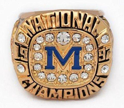 - A.TATOON Michigan Rose Bowl Game 1997 Championship Rings (12)