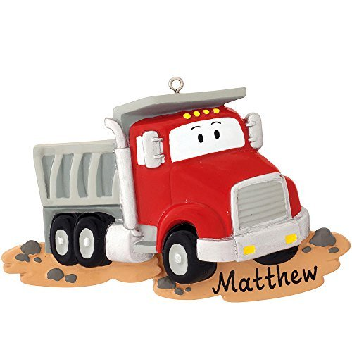 Dumptruck Personalized Christmas Tree Ornament by THE SOLAR GIANT/POLAR X
