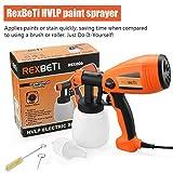 Paint Sprayer, HVLP Spray Gun Power Painter By RexBeTi, Home Paint Sprayer Tool with Advanced Motor, 3 Spray Patterns Flow Control, 700ml/min