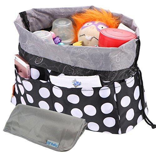 KF Baby Diaper Bag Insert Drawstring Closure Organizer + Changing Pad Value Combo Mum Drawstring