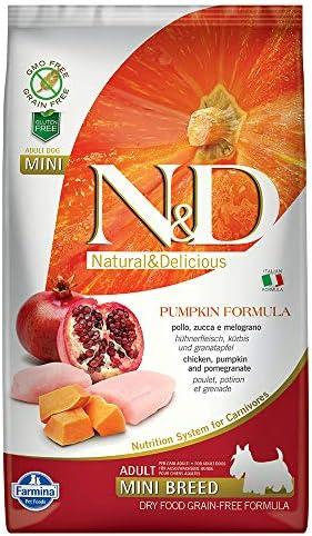 Farmina Natural Delicious Grain-Free Pumpkin Chicken Pomegranate Adult Dog Mini 5.5 lb