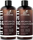 ArtNaturals Organic Moroccan Argan Oil Shampoo and Conditioner Set - (2 x 16 Fl Oz/473ml) - Sulfate Free - Volumizing & Moisturizing - Gentle on Curly & Color Treated Hair - Infused with Keratin