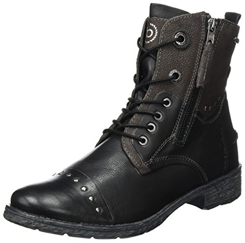 Women's Grey 421330311015 Bugatti Dark 1011 Black Black Boots CYz66nqR5