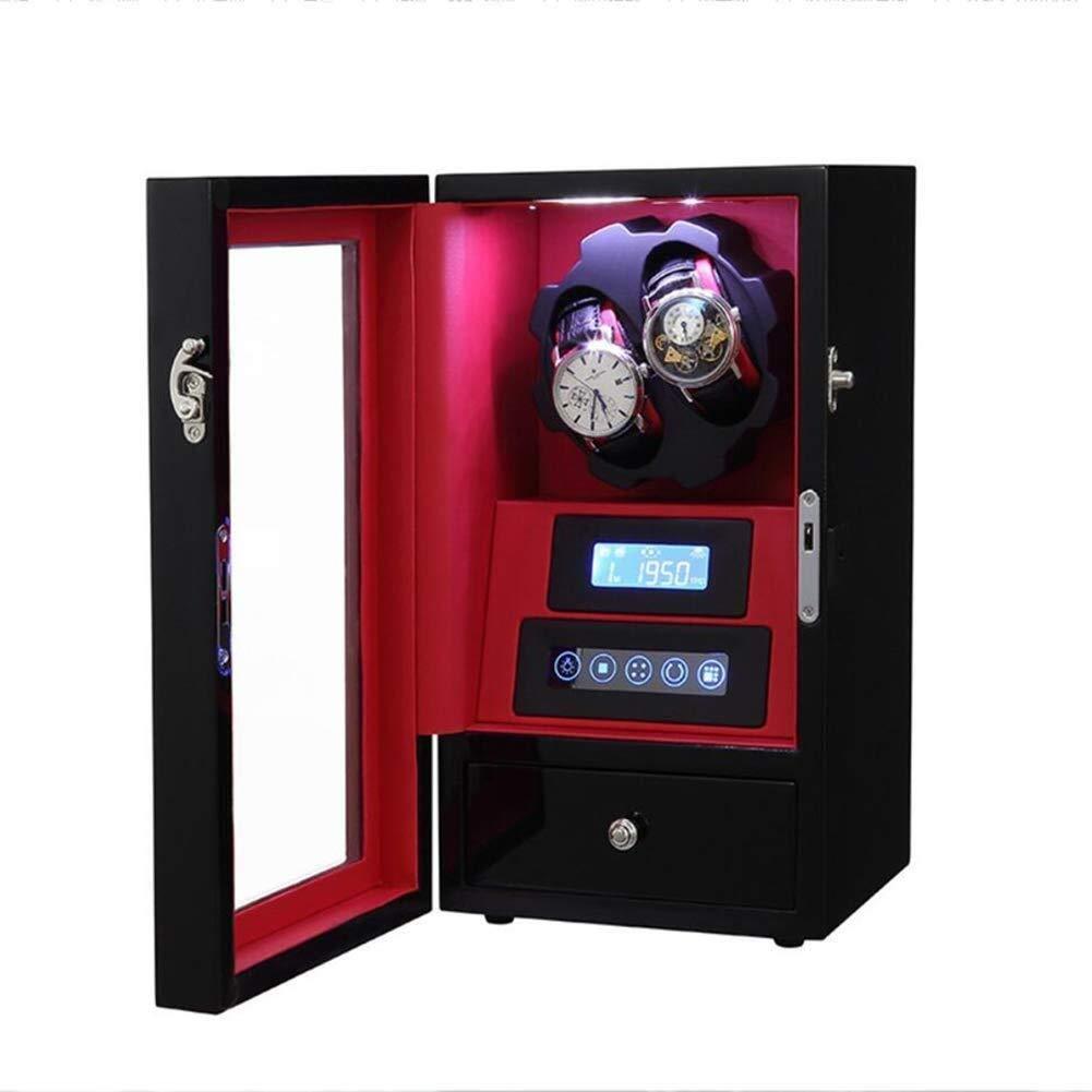 2 + 0 Enrollador automático Reloj Madera, luz Ambiental LED ...