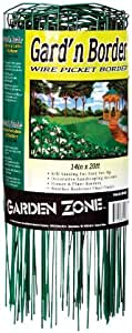 Origin Point 381420 20-Foot x 14-Inch Gard'n Border Wire Picket Fence, Green Outdoor, Home, Garden, Supply, Maintenance