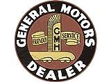 "8"" Round Metal Vintage Signs General Motors Dealer"