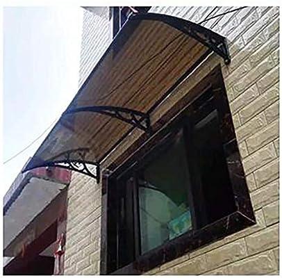 Tama/ño: 60cmx100cm Color : Black+borwn Mr.T Balc/ón terraza Refugio Porche Refugio de tejado Puerta Toldo Muebles Proteja Aleros Cubre Las Cubiertas de Arriba 3 Colores toldo Ventanas