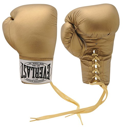 Everlast Mens Autograph Boxing Gloves Gold One Size