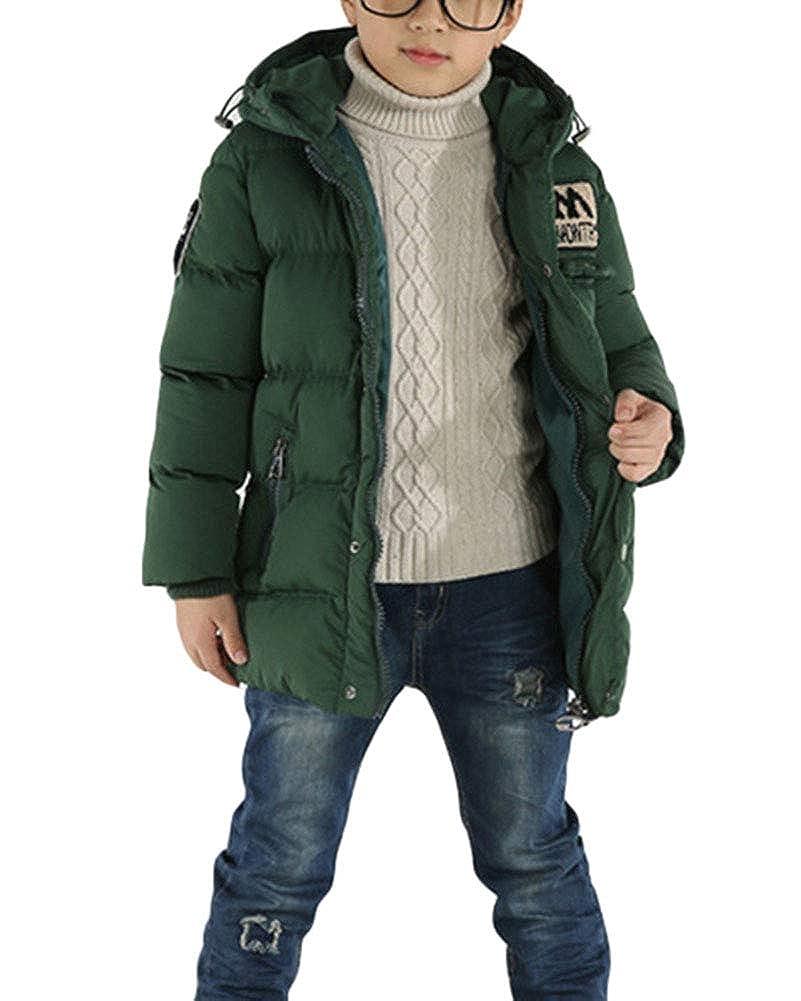 Odziezet Cappotto con Cappuccio da Bimbo Giubbino Impermeabile Incappucciato Inverno 0-5 Anni