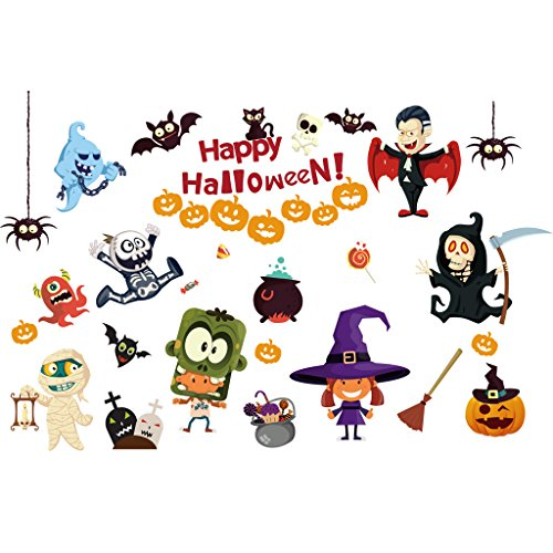 Best-topshop Monster Cartoon Wall Stickers, 23.62 X 35.43 inches / 60 x 90 cm, Halloween Party Removable DIY Decoration for Home Room Door (Diy Halloween Door Decorations)