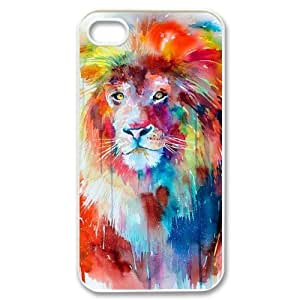 Lion DIY Cover Case for Iphone 4,4S,personalized phone case ygtg541326