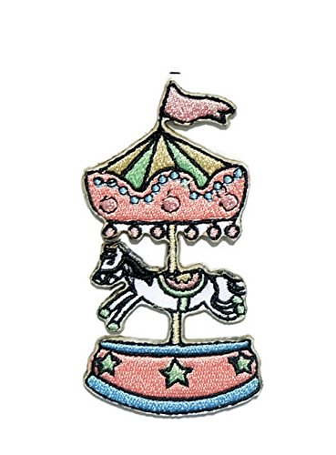 Carousel Cartoon Iron on Patch Embroidered Sewing for T-shirt, Hat, Jean ,Jacket, Backpacks, Clothing