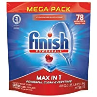 Finish Finish Max in 1 Powerball, 78ct, Wrapper Free, Dishwasher Detergent Tablets, 78 Count