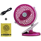 B-Creator USB Powered Table Mini Fans Can Battery Operated Clip on Desk Cooling