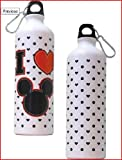 Disney Mickey Heart Aluminum Water Bottle Disney