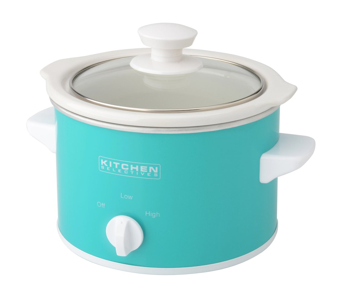 Kitchen Selectives Slow Cooker, 1.5-Quart, Turquoise