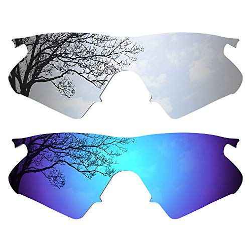 Dynamix Polarized Replacement Lenses for Oakley M Frame Heater - Multiple Options (Titanium + Ice Blue, Polarized Enhanced) (Titanium Heater Professional)