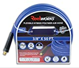ReelWorks Hybrid Polymer Flexible Air Compressor (3/8'' x 50 ft Blue)