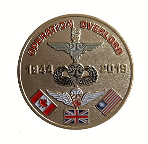D-Day Landings Commemorative Coin Operation Overlord 75th Anniversary 1944 to 2019 ()