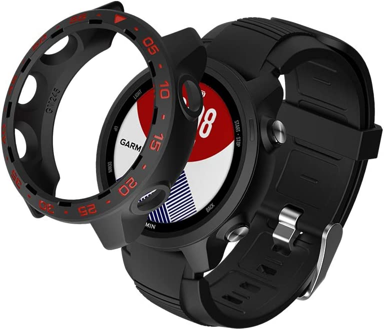 Black-Red SIKAI Protective TPU Cover for Garmin Forerunner 245 SmartWatch Shockproof Anti-Scratch Case for Garmin 245 Screen Portector Lightweight Multi-Colors