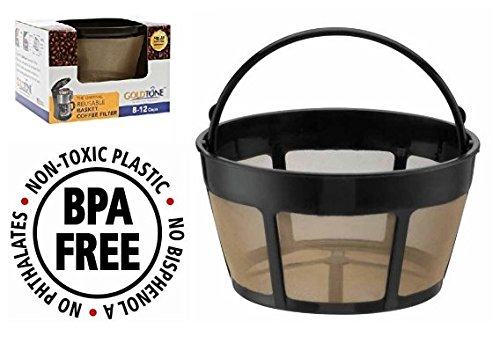 GoldTone Brand Reusable 8-12 Cup Basket Coffee Filter fits Hamilton Beach Coffee Makers and Brewers. Replaces your Hamilton Beach Reusable Coffee Filter - BPA Free (Maker Coffee Filter Tone Gold)