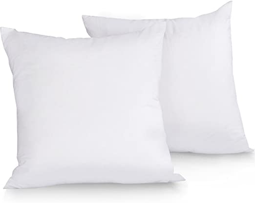 Set of 10 Duck Feather Cushion pads 100/% down-proof cotton casing-Heavy Filling