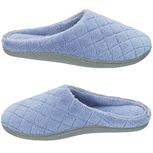 Women's Slipper Clog Mule Terry Quilted Dearfoams YB8pxqn7p