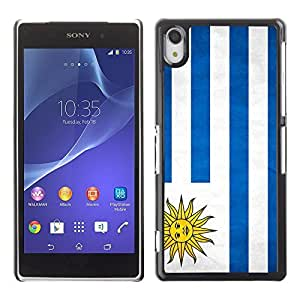 Shell-Star ( National Flag Series-Uruguay ) Snap On Hard Protective Case For SONY Xperia Z2 / D6502 / L50W