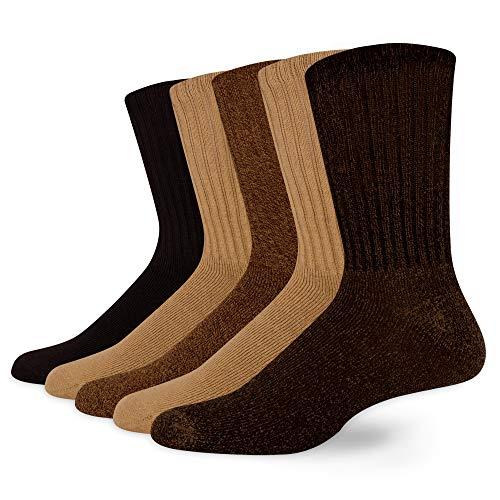 Dockers Men's 5 Pack Cushion Comfort Sport Crew Socks
