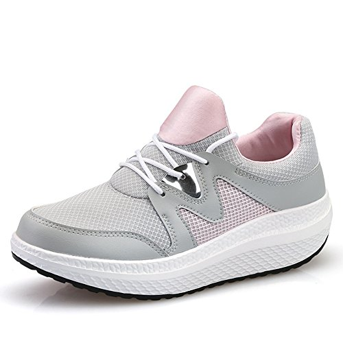 CYBLING Womens Walking Wedges Sneakers Breathable Comfort Outdoor Exercise Athletic Shoes Pink C6wMqb5r