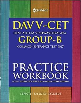 Buy DAVV CET Group-B Practice Workbook 2017 Book Online at Low