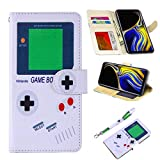 UrSpeedtekLive Samsung Galaxy Note 9 Case, Galaxy Note 9 Premium PU Leather Wristlet Flip Wallet Case Cover with Card Slots & Stand, Gameboy