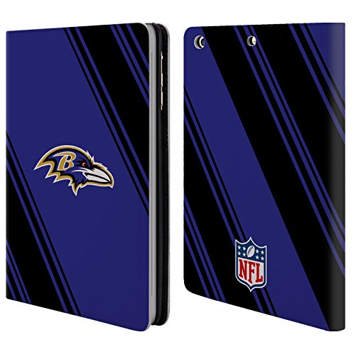 - Official NFL Stripes 2017/18 Baltimore Ravens Leather Book Wallet Case Cover for Apple iPad Mini 1/2 / 3
