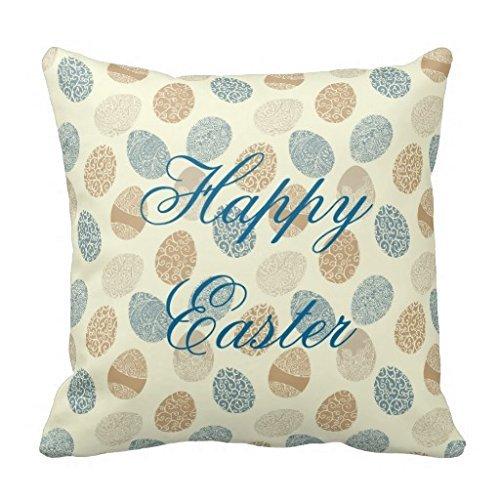 Happy Easter Vintage Eggs 18*18 pillow Case