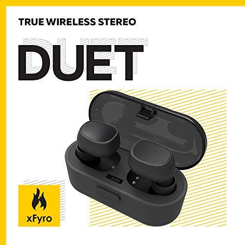 Wireless Earbuds Best Bluetooth Headphones with Microphone IPX7 Waterproof Sweatproof Sports Earphones with Stereo Noise Cancelling Headsets for iPhone and Android Charging Case - v2 (Black)