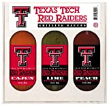 8 Pack TEXAS TECH Red Raiders Grilling Gift Set 3-12 oz