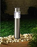 17'' Solar Power LED Stainless Steel Landscape Pathway Lights with PIR Motion Sensor (stake lightB w/motion)