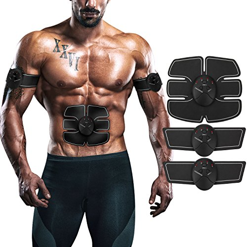 ITERY Muscle Toner, Abdominal workouts Fitness Portable AB Machine Abdominal Toning Belt EMS Training ABS Trainer Wirless Muscle Toning for Abdomen/Arm/Leg for Men or Women