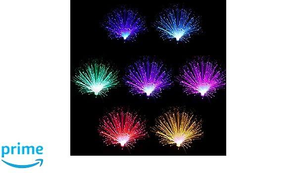 la fibra de luz de batteriebetriebenes fibra de fibra de Brunnen de noche luz cambia ledmomo de l/ámpara de fibra de color