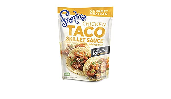 Frontera - Salsa de sartén de Taco de pollo con tomate asado + Chile rojo suave - 8 oz.: Amazon.es: Salud y cuidado personal
