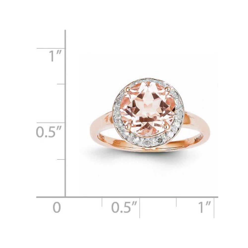 Roxx Fine Jewelry™ Diamond and Morganite Halo Necklace 2.83 Ct. TCW XP4182MG/AA by Roxx Fine Jewelry (Image #8)