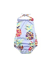 Fartido Infrant Baby Girl Pineapple Print Swimwear Backless Beach Clothes