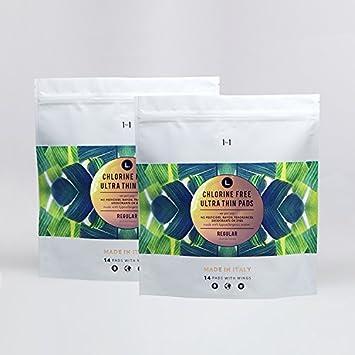 L Organic Pads >> L Organic Cotton Chlorine Free Pads Regular 28 Count