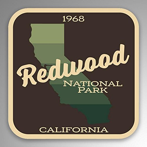 2-Pack Redwood National Park Decal Sticker | 4-Inches By 4-Inches | Premium Quality Vinyl Sticker | UV Protective Laminate | PD1017 (Redwood Parka)
