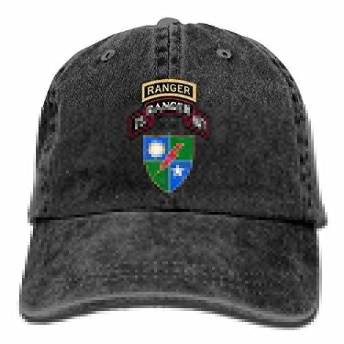 (Rangers Creed US Army Rangers Dad Hat Adjustable Denim Hat Classic Baseball Cap)