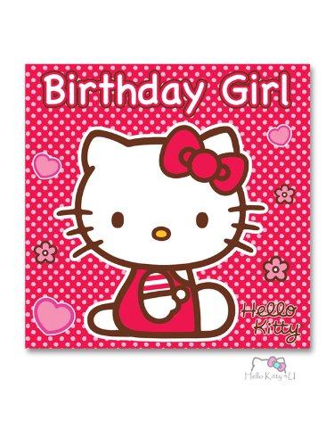 Hello Kitty tarjeta de cumpleaños - con cuadrado Hello Kitty ...